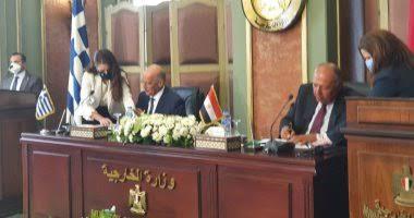 وزير الخارجية يوقع مع نظيره اليوناني اتفاقية تعيين الحدود البحرية