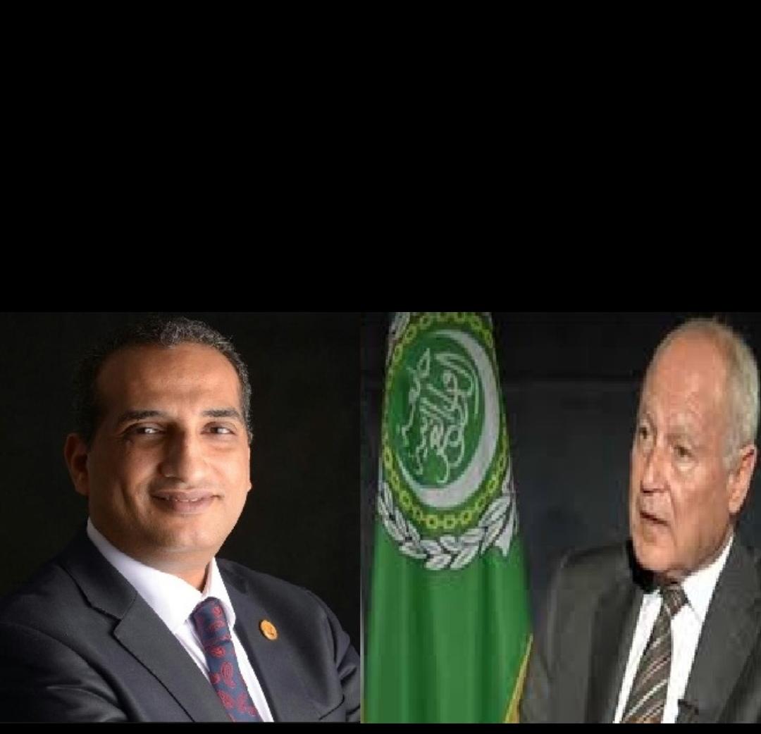 أمين عام جامعة الدول العربي يستقبل رئيس اتحادي الإعلاميين العرب و المبدعين العرب ضمن وفد الاتحادات العربية